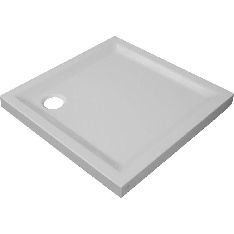 Receveur De Douche Carre L 80 X L 80 Cm Acrylique Blanc Houston