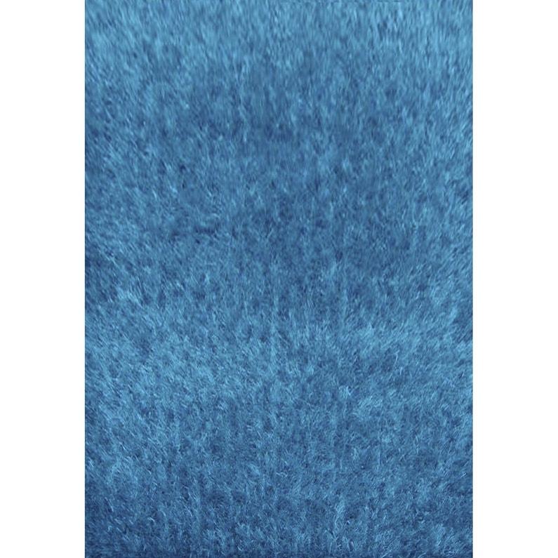 tapis turquoise shaggy lilou l160 x l230 cm - Tapis Turquoise