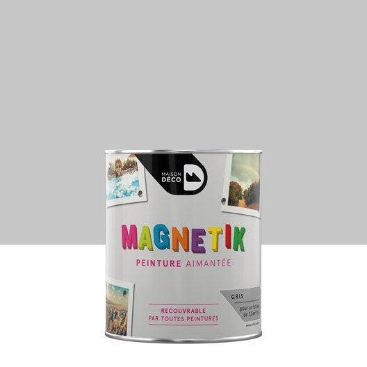 peinture magn tique gris maison deco magn tik c 39 est g nial 0 5 l leroy merlin. Black Bedroom Furniture Sets. Home Design Ideas