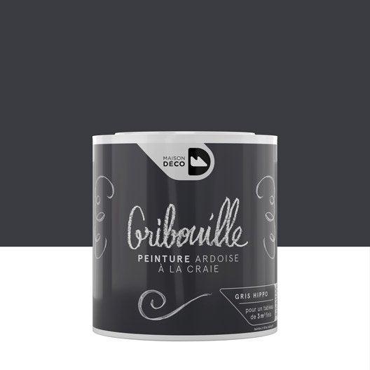 Peinture tableau craie gris hippo MAISON DECO Gribouille 0.5 l