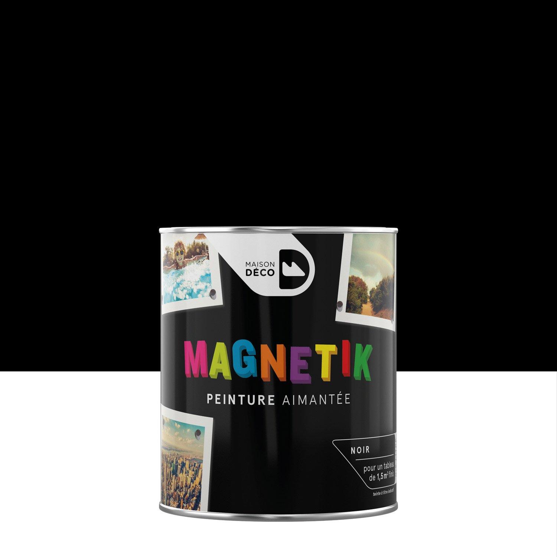 peinture magn tique noir satin maison deco magn tik c 39 est g nial 0 5 l leroy merlin. Black Bedroom Furniture Sets. Home Design Ideas