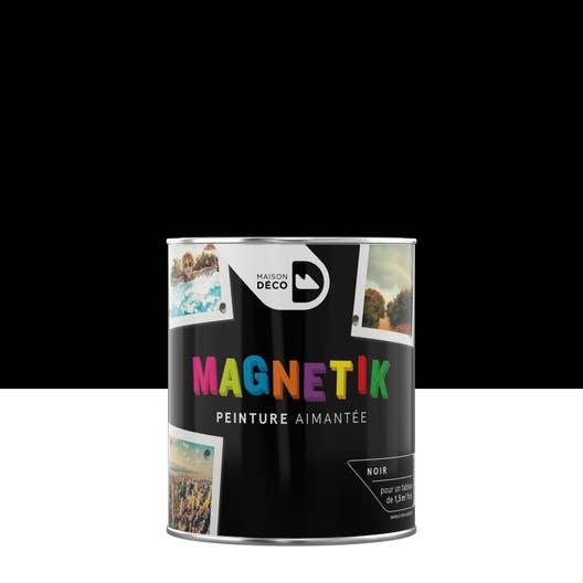 peinture magn tique noir satin maison deco magn tik c 39 est. Black Bedroom Furniture Sets. Home Design Ideas