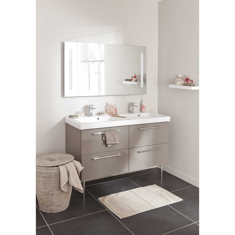Meuble de salle de bains plus de 120 marron remix leroy merlin - Meuble salle de bain remix ...
