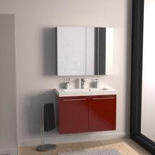 Meuble de salle de bains de 80 à 99, rouge, Remix