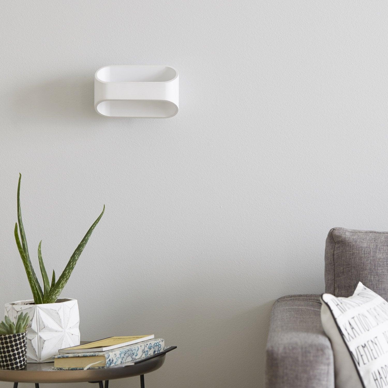 Applique, design led intégrée Koper métal Blanc, 1 INSPIRE