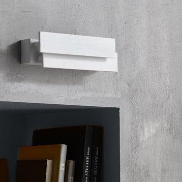 Applique design led intégrée Taz métal Blanc, 2 INSPIRE