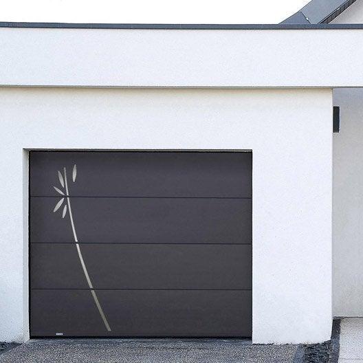 porte de garage sectionnelle fidis motorisée h.200 x l.240 cm