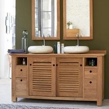 Meuble salle de bains bois au meilleur prix | Leroy Merlin