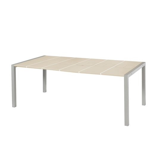 Table de jardin grosfillex sunday rectangulaire lin 8 personnes leroy merlin - Table de salon rectangulaire ...