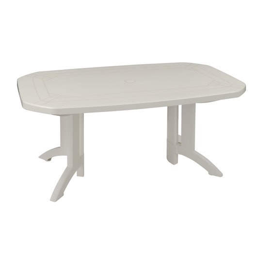 Table de jardin GROSFILLEX Véga rectangulaire blanc 6 personnes ...