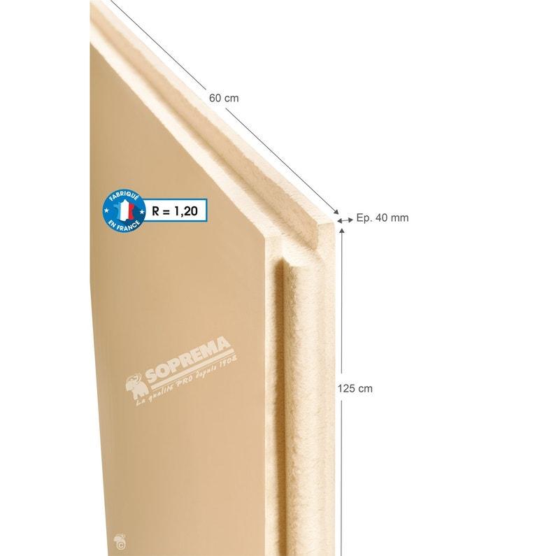 Panneau Polystyrène Extrudé L06 X L125 X Ep40 Mm Rr1 à R3