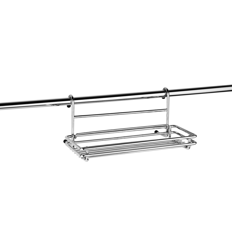 Etagère porte-éponge pour barre de crédence métal l.24.2 x H.15.5 cm