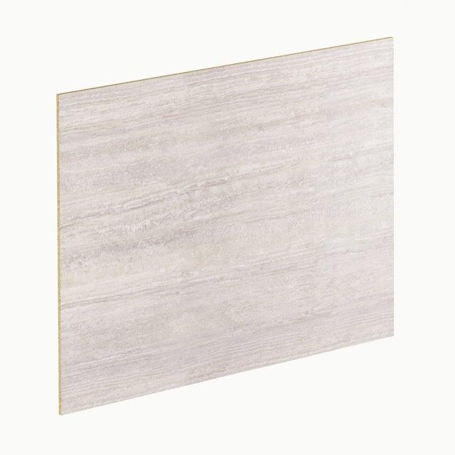 Crédence stratifié Effet travertin blanc / gris H.64 cm x Ep.9 mm x L.300 cm