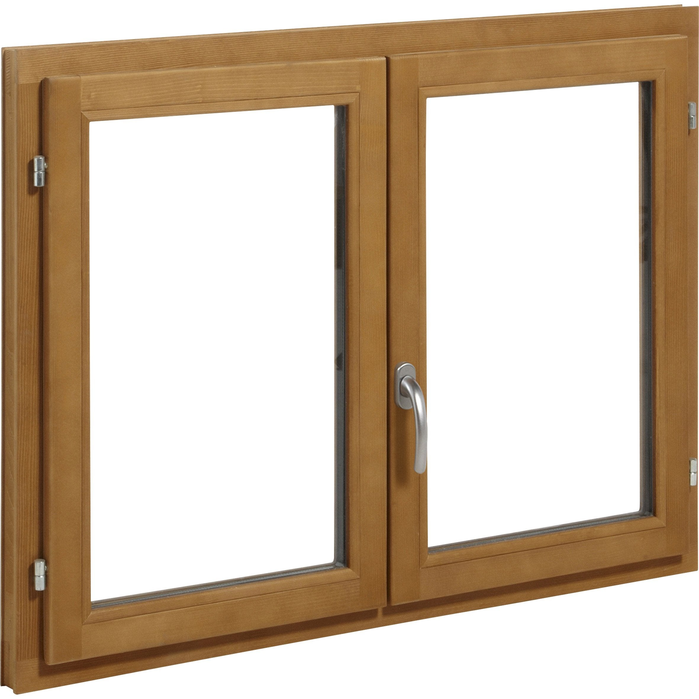 Fenêtre Bois H.75 x l.100 cm, pin, 2 tirant droit