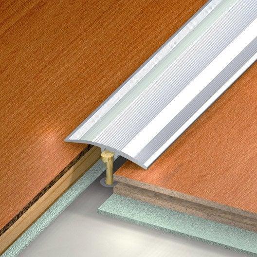barre de seuil aluminium anodis gris x l 4 1 cm leroy merlin. Black Bedroom Furniture Sets. Home Design Ideas
