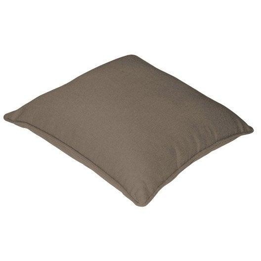 housse de coussin cl a inspire brun taupe n 3 x cm leroy merlin. Black Bedroom Furniture Sets. Home Design Ideas