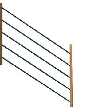 Lot de 5 tubes et demi-poteaux pour garde-corps MOKA bois brut H.96 x l.15 cm