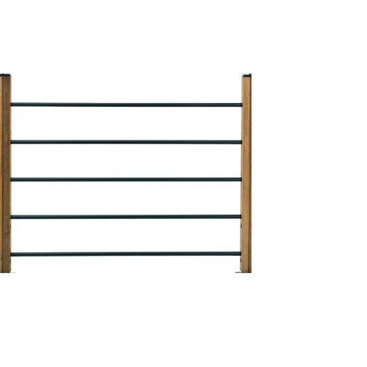 Lot de 5 tubes et demi poteaux pour garde corps moka bois for Poteau bois exterieur