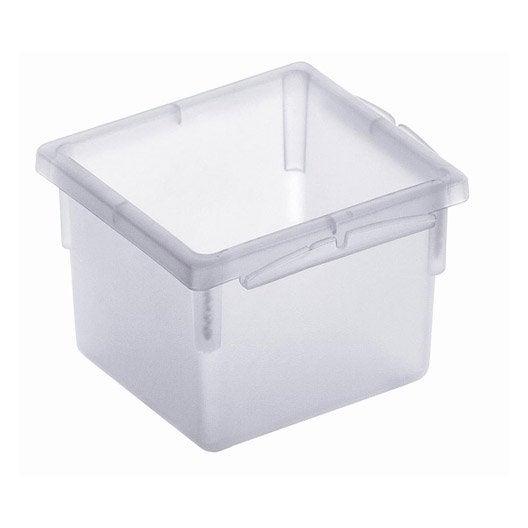 Organiseur de tiroir l 8 x p 8 cm leroy merlin for Organiseur tiroir cuisine