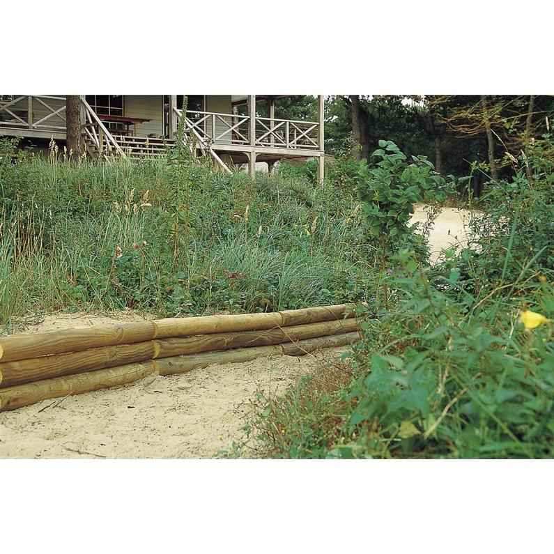 Retenue De Terre à Planter Sauvage Bois Naturel H60 X L110 Cm
