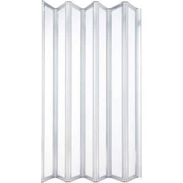 Pare-baignoire 7 volets pivotant pliant 140x155 cm verre sécu transparent Laguna