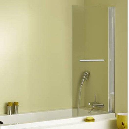 pare baignoire 1 volet verre de s curit 5 mm transparent. Black Bedroom Furniture Sets. Home Design Ideas