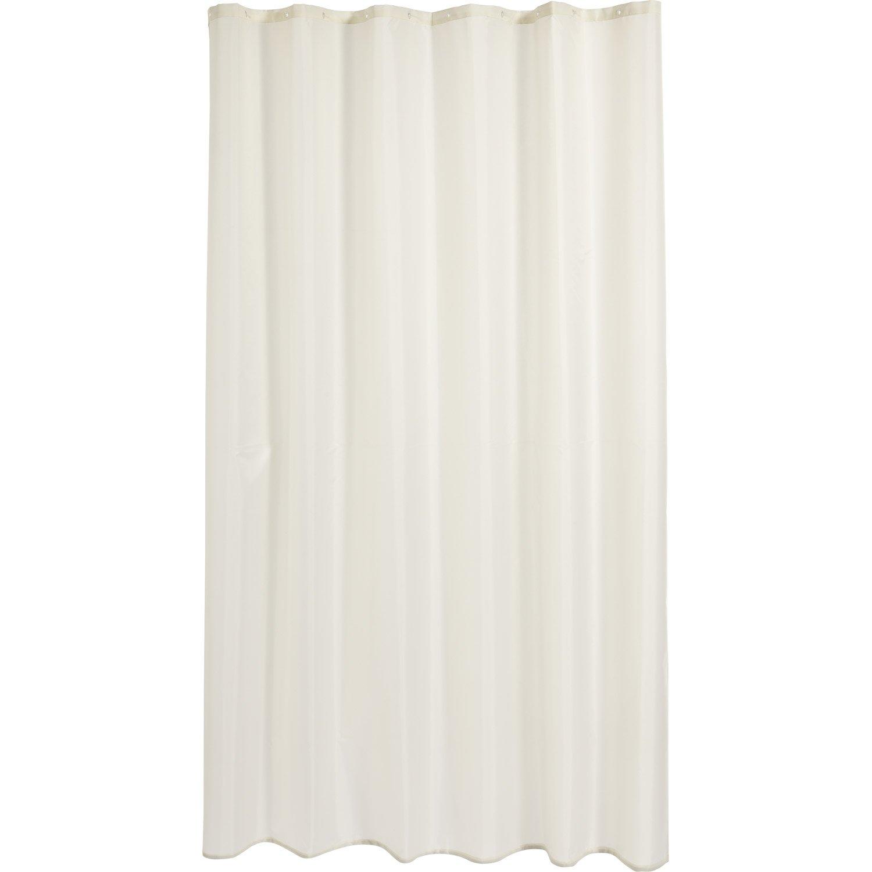 Rideau de douche en textile blanc blanc n 0 x cm happy sensea leroy merlin - Rideau de douche textile ...