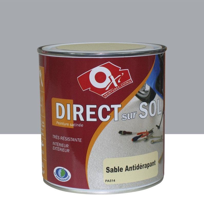 Peinture Sol Exterieur Interieur Antiderapante Oxytol Gris 0 5 L
