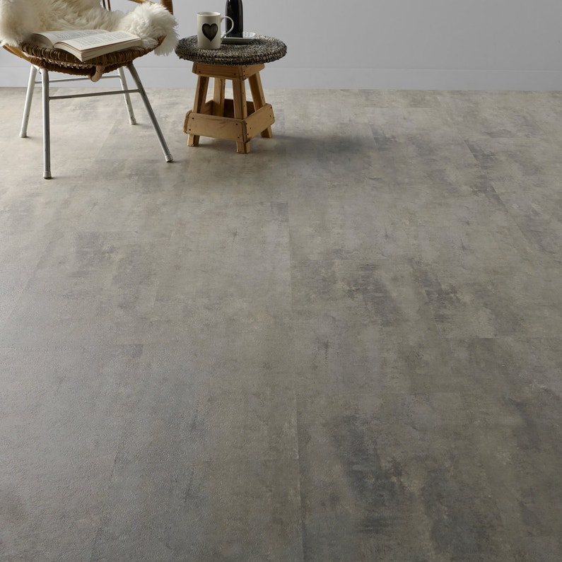 Un sol en dalle vinyl effet b ton leroy merlin - Peinture sol effet beton cire leroy merlin ...