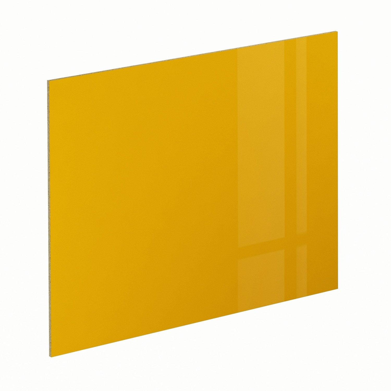Crédence stratifié Jaune serin brillant H.64 cm x Ep.9 mm x L.300 cm