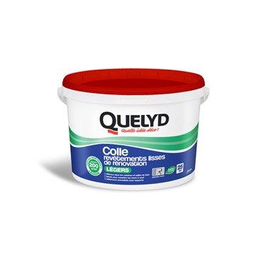 Colle revêtement mural léger Revêtement léger QUELYD, 5 kg