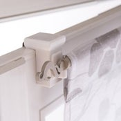 Lot de 2 supports sans perçage barre de vitrage Petite fenetre, 10 mm blanc