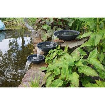 Fontaine UBBINK Mistaya 3 vasques, noir, H.20 cm