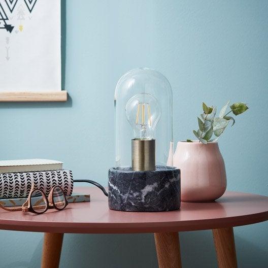 Lampe lampe design sur pied et poser leroy merlin for Lampe eclipse meilleur prix