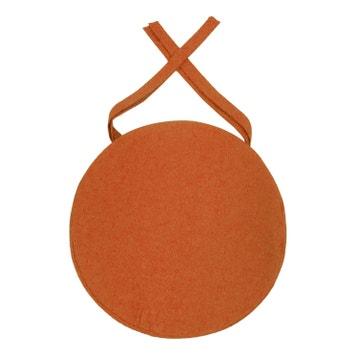 Galette De Chaise Dperlante Orange L38 X H5 Cm