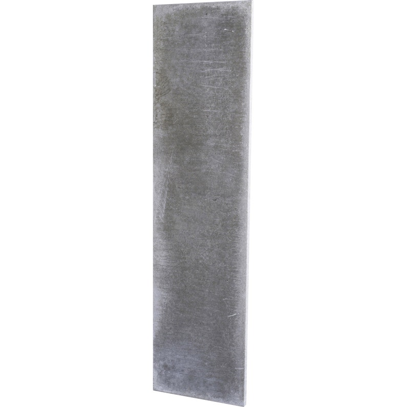 Plaque en béton pleine pour clôture droite, L.192 x H.50 cm x Ep.37 ...