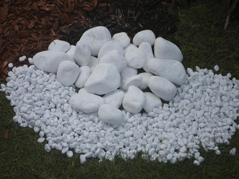 Galets Carrare en marbre, blanc, 60/100 mm, 25 kg