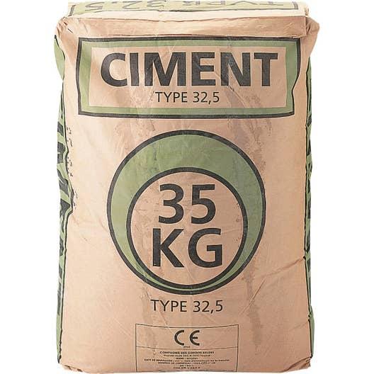 ciment gris ce 35 kg leroy merlin. Black Bedroom Furniture Sets. Home Design Ideas