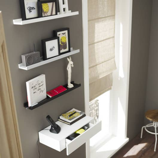 etag re pour cadre photo gris x cm mm leroy merlin. Black Bedroom Furniture Sets. Home Design Ideas