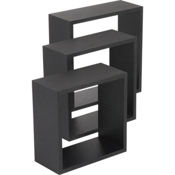 Etagere murale tag re murale cube tag re angle rangement mural leroy m - Fixation murale tv leroy merlin ...