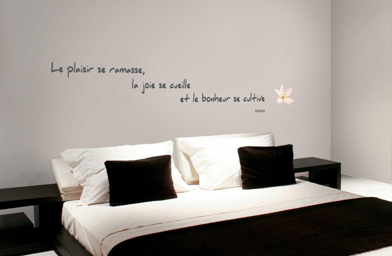 stickers citation  du bonheur sur les murs