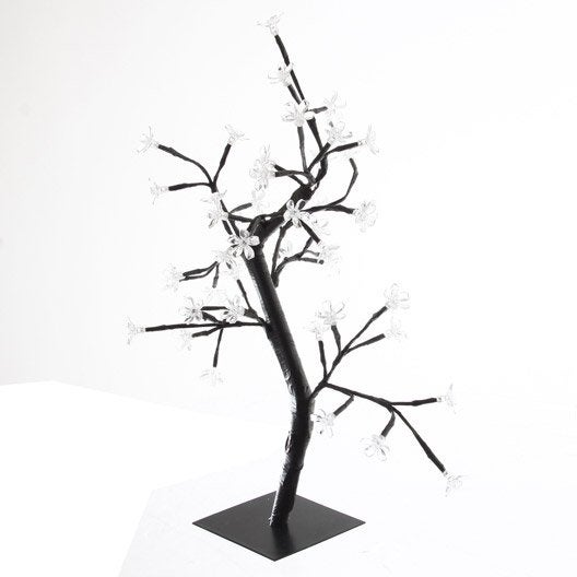 arbre lumineux 48 led blanc h 45 cm leroy merlin. Black Bedroom Furniture Sets. Home Design Ideas
