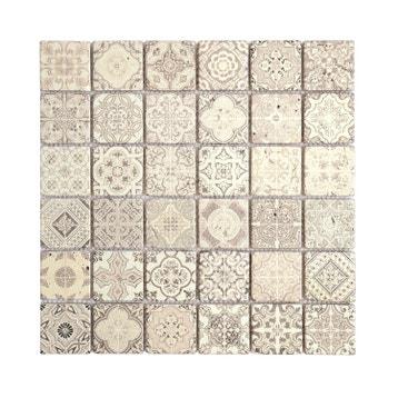 mosaque mur renaissance dcor naturel 48 x 48 cm