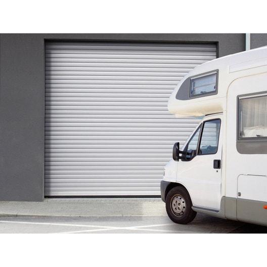 porte de garage enroulement porte de garage motoris e au meilleur prix leroy merlin. Black Bedroom Furniture Sets. Home Design Ideas