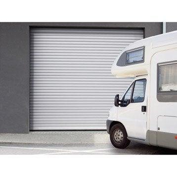 Porte de garage à enroulement motorisée ARTENS essentiel H.300 x l.300 cm