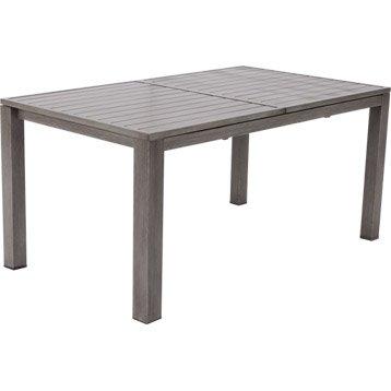 Table de jardin NATERIAL Antibes rectangulaire gris look bois 10 personnes
