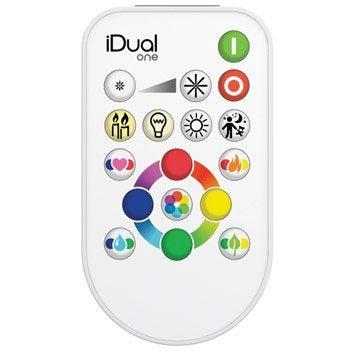Télécommande Idual LEXMAN, plastique, blanc