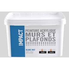 peinture blanche mur et boiserie impact satin 5 l leroy merlin. Black Bedroom Furniture Sets. Home Design Ideas