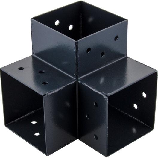Connecteur 3d Angle 90 Pour Poteau Bois H 9 X P 9 Cm