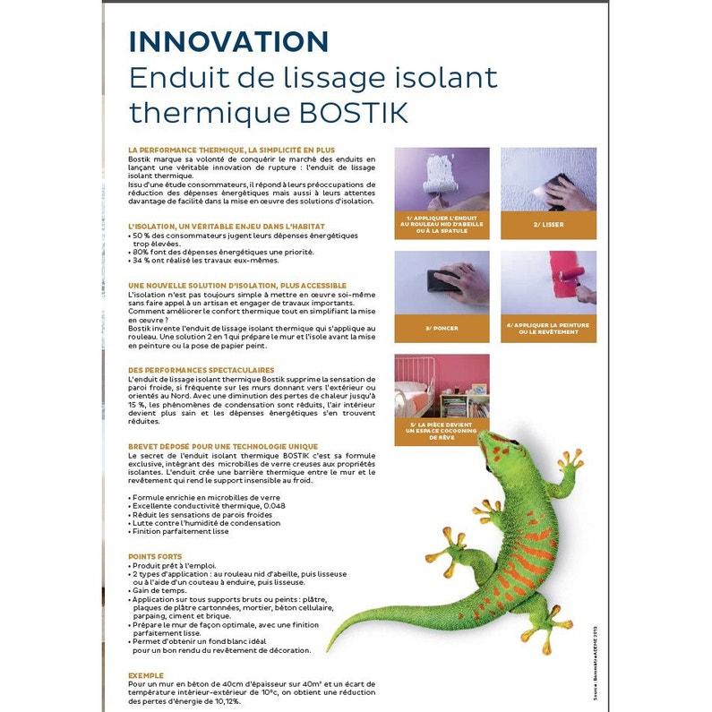 Enduit Pâte Allégée Isolant Thermique Bostik 25 Kg